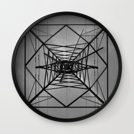 Steel Kaleidoscope Wall Clock