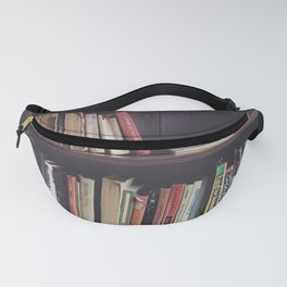 The Bookshelf in the Library, portrait, filtered Fanny Pack