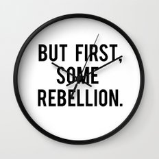 rebellion Wall Clock