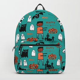 Cute Frankenstein and friends teal #halloween Backpack