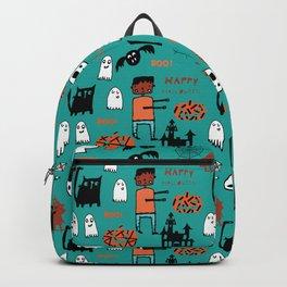 Cute Frankenstein and friends teal #halloween Backpack