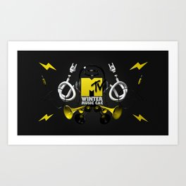 MTV Winter Music CAC Art Print
