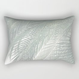 Faded Palm Leaves Rectangular Pillow