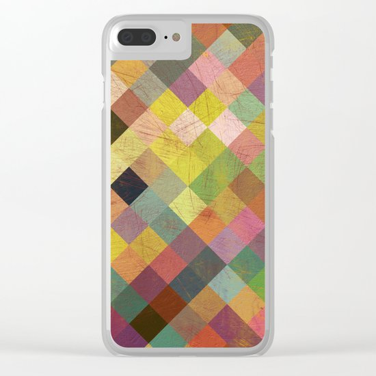 Aztec Vintage Pattern 06 Clear iPhone Case