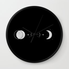 The Law of Crescent Moon Wall Clock