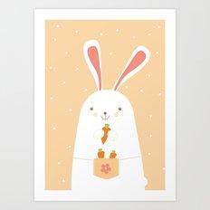I promise nicely eat carrots. Art Print