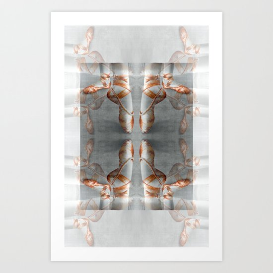 Ballet Shoe Orange reflection Art Print