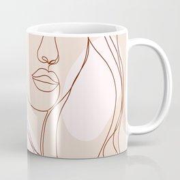 Line-art Portrait - Fierce Girl Power Coffee Mug