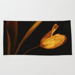 Tulips of the golden age Beach Towel