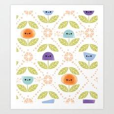 Mod Flowers Art Print