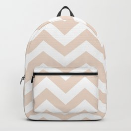 Champagne pink - pink color - Zigzag Chevron Pattern Backpack
