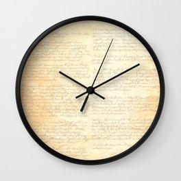 Jane Austens Letter to her sister Cassandra Wall Clock
