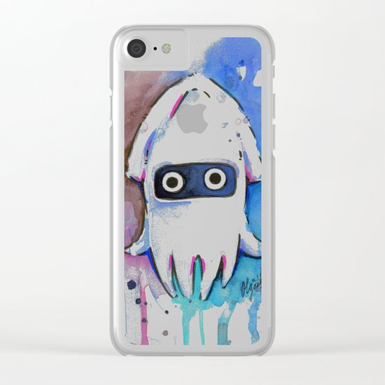 Blooper Watercolor Mario Art Clear iPhone Case