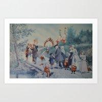 thegnarledbranch Art Prints featuring Goblin Fair by TheGnarledBranch