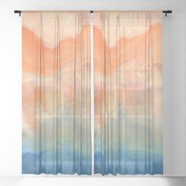 tie dye - the Earth: heaven Sheer Curtain