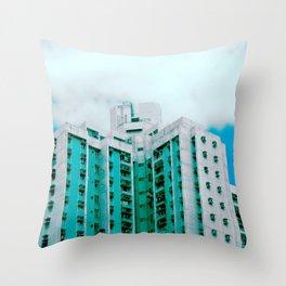 scraping sky, oh my Throw Pillow