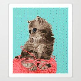Messy Lil Cat Art Print