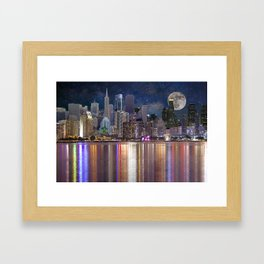 Can you name all the cities? Framed Art Print