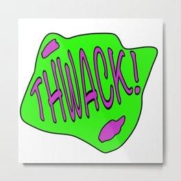 Thwack! - Cartoon Metal Print
