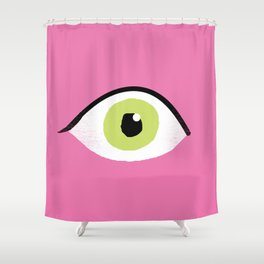 eye liner open Shower Curtain