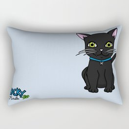Blacky the cat Rectangular Pillow