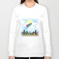 superman Long Sleeve T-shirts featuring SUPERMAN by voskovski