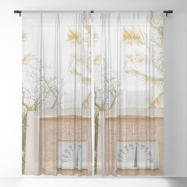 Beautiful Morning for South Beach Sheer Curtain