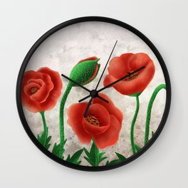 Watercolor tulip in heaven  Wall Clock