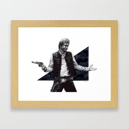 He shot first and he doesn't care Framed Art Print