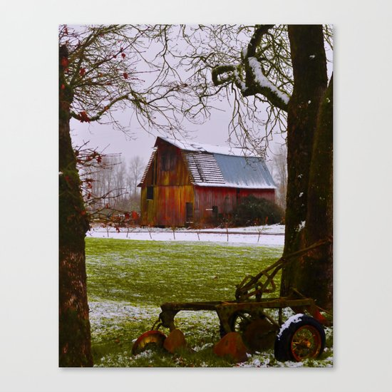 Remnants of a Simpler Time - The Barn Canvas Print