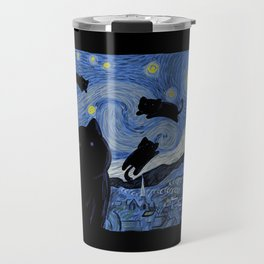 The Starry Cat Night Travel Mug