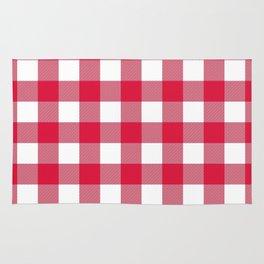 Gingham (Crimson/White) Rug