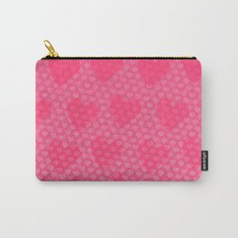 Pink Designer Princess Heart Carry-All Pouch