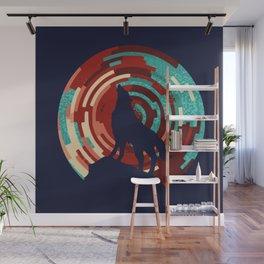 Howling wolf  DJ wall art print Wall Mural