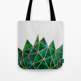 Emerald & Gold Geometric Tote Bag
