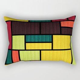 Mondrian Bauhaus Pattern #09 Rectangular Pillow