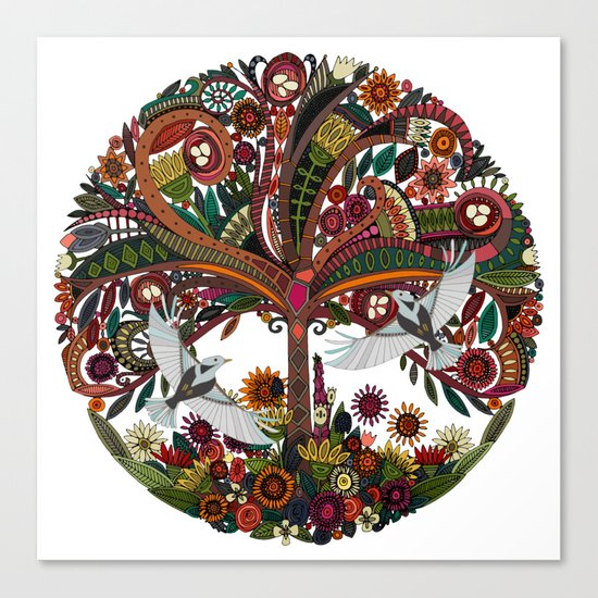 tree of life white Canvas Print