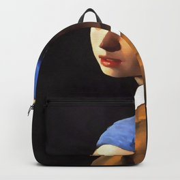 Girl with a Pearl Earring After Johannes Vermeer Backpack