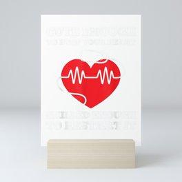 Nurse Shirt- Nurse Gift - Funny Nurse T-Shirt Mini Art Print