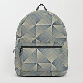 Grey Geo Pattern Backpack