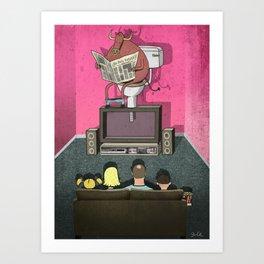 What's On TV Art Print