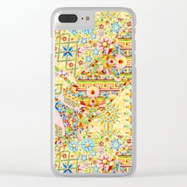 Sunshine Crazy Quilt (printed) Clear iPhone Case