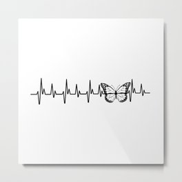 My Heart Beats for Monarch Butterflies Metal Print