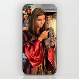 Renaissance Dressed Beauty and the Cute Little Beast iPhone Skin