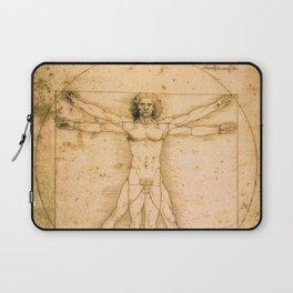 Vitruvian Man by Leonardo da Vinci Laptop Sleeve