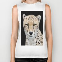 cheetah Biker Tanks featuring Cheetah by Lynn Bolt