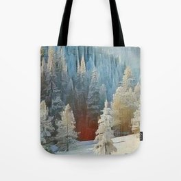 """""""First Snow"""" Tote Bag"""
