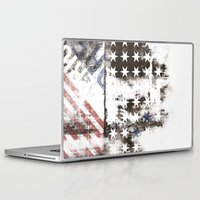 flag Laptop & iPad Skins featuring FLAG by TOO MANY GRAPHIX