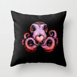 Octopus needs love 2 Throw Pillow