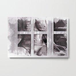 Behind The Window Metal Print